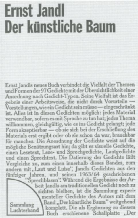 Ernst Jandl Autor Und Das Experiment Biografie